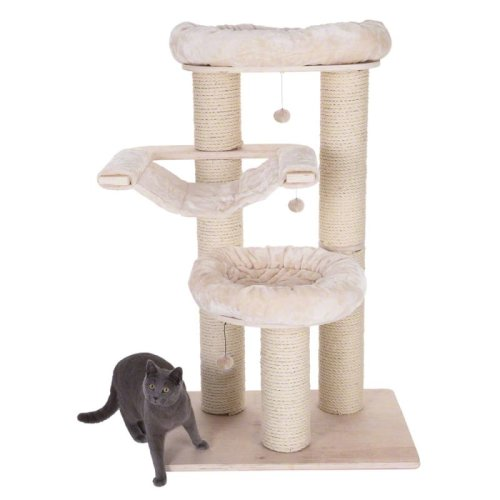 Natural Paradise Cat Tree Large Scratching Post Hammock Platform