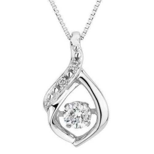 Solid White Gold 14K Prong Setting Round Cut 1.50 Carats Diamond Pendant Necklace