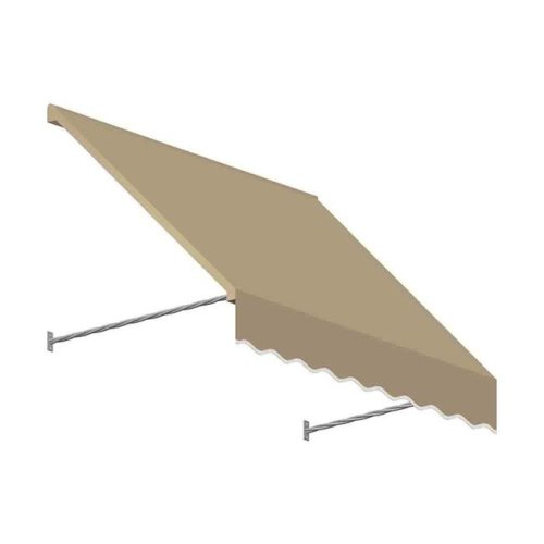 Awntech SANT32-US-5T 5.38 ft. Santa Fe Twisted Rope Arm Window & Entry Awning, Tan - 44 x 24 in.