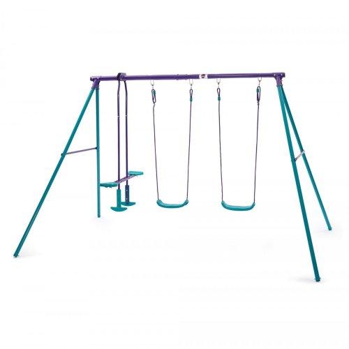 Plum Jupiter Metal Swing Set Childrens Swing with Double Swing