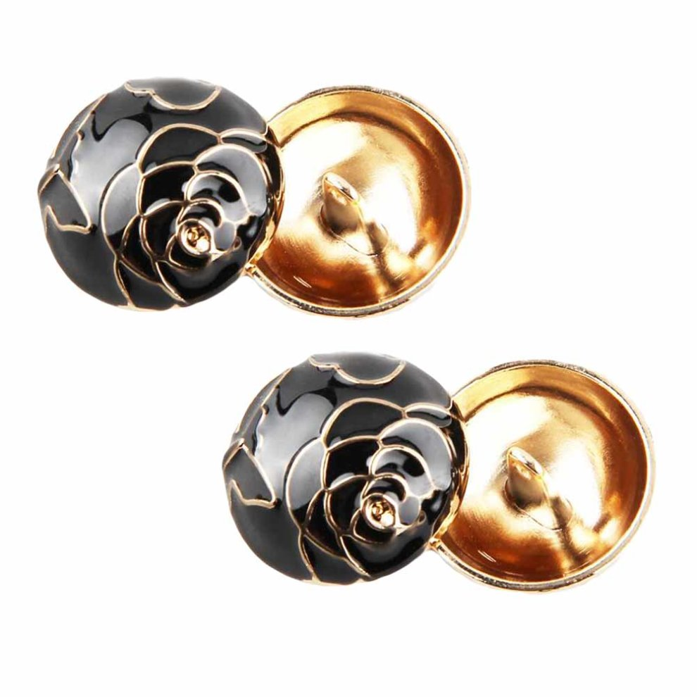 12 Pieces Women Fashion Coat Buttons Decorative Button Peony Metal Button  (23mm)