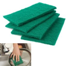 TRIXES Pack of 10 Scouring Pads Heavy Duty Green