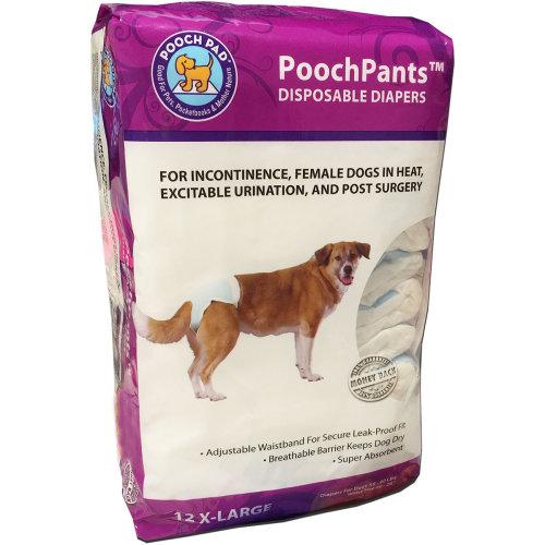 PoochPants Disposable Diaper-Large 12/Pkg-