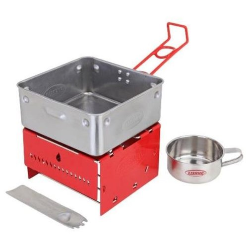 Sterno 70131 Camp Stove Kit with Frame & Wind-Shield Panels