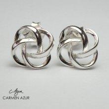 925 Sterling Silver Stud Earrings, Celtic Knot Design