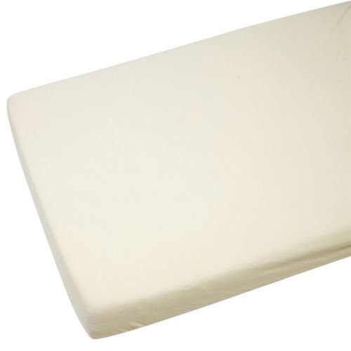 4x Cot Bed 100% Cotton Jersey Fitted Sheets 140x70cm Cream
