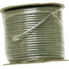 Cables To Go 07192 500ft 4 CONDUCTOR SILVER SATIN MODULAR 28AWG CABLE REEL