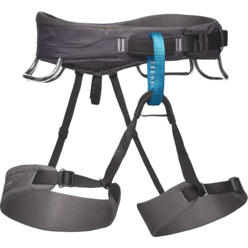 Black Diamond Mens Momentum Climbing Harness Slate (Medium)