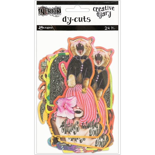 Dyan Reaveley's Dylusions Creative Dyary Die Cuts 24/Pkg-Set 6