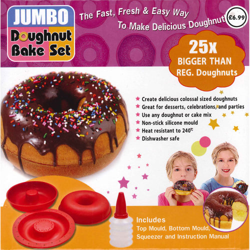 Jumbo Silicone Doughnut Mould | Giant Doughnut Bake Set