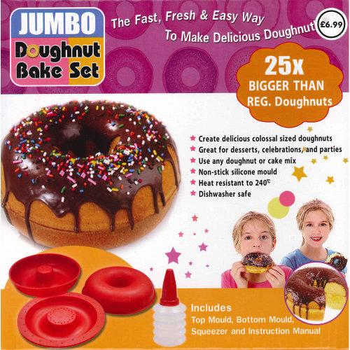 Jumbo Silicone Doughnut Mould | Giant Doughnut Bake Set