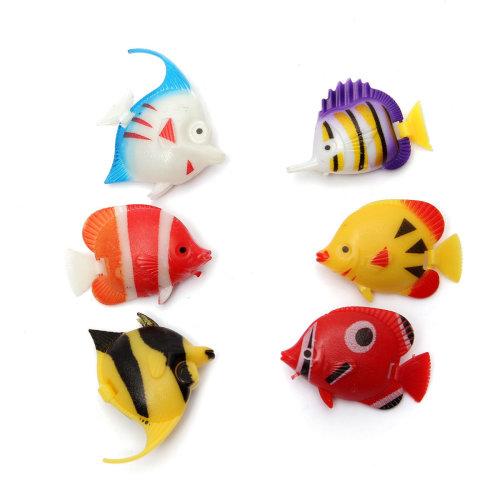 6Pcs Artificial Tropical Fish Ornament Moveable Aquarium Fish Tank Decoration