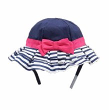 Summer Baby Girl Caps Cotton Sun Hat For 2-3 Years Baby Navy Stripe