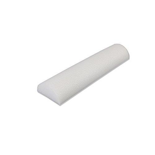 CanDo PE White Foam Roller, 3 X 12 Slim, Half Round