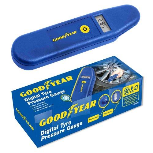 Goodyear Digital LCD Tyre Pressure Gauge Tester Measurement Car Motorcycle Bike