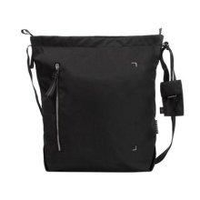 Crumpler DZPS-M-007 Medium Doozie Photo Shoulder Camera Sling Bag with 13-Inch Laptop Compartment - Black/Metallic silver