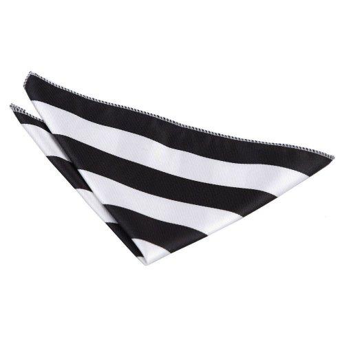 Black & White Striped Pocket Square