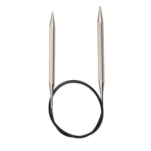 KnitPro 60 cm x 2.75 mm Nova Cubics Fixed Circular Needles, Shiny Brass