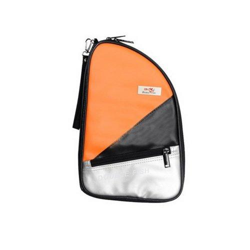 Table Tennis Paddle Bag Orange PU Table Tennis Racket Case