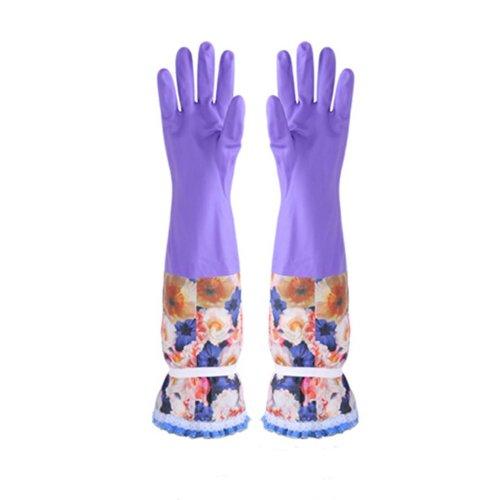 Plus Velvet Gloves Cleaning Gloves Waterproof Gloves Kitchen Rubber Gloves