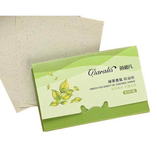 [Green Tea] 3 Sets Unisex Facial Oil Blotting Papers Oil Control Papers