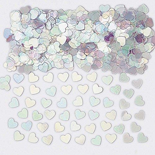 Sparkle Hearts Iridescent Metallic Confetti 14g -