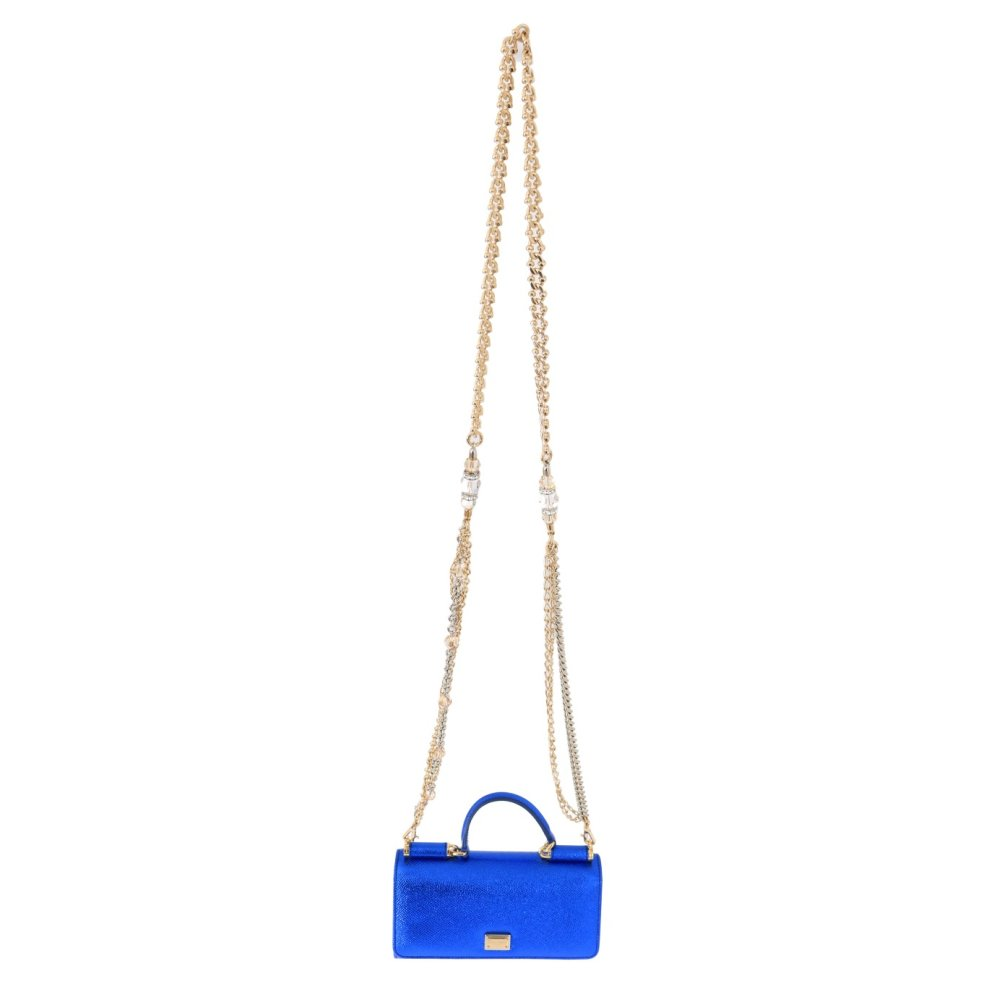 dce8536035 Dolce & Gabbana Blue Sicily VON Leather Clutch Bag on OnBuy