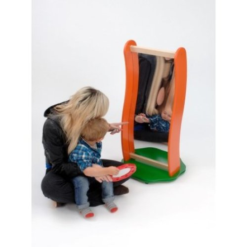 Childrens Floor Standing Fun Wavy Mirror (A36036)