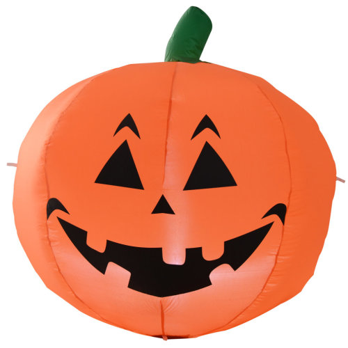 Homcom 1.2M Inflatable LED Light-Up Pumpkin | Blow-Up Pumpkin Light