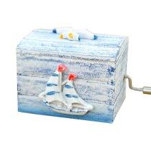 Wooden Music Box European Style Mini Hand Crank Music Box Gift