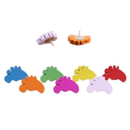Creative Item/ Woodiness Colorful Little Feet Pushpins/50 Piece/Random Color