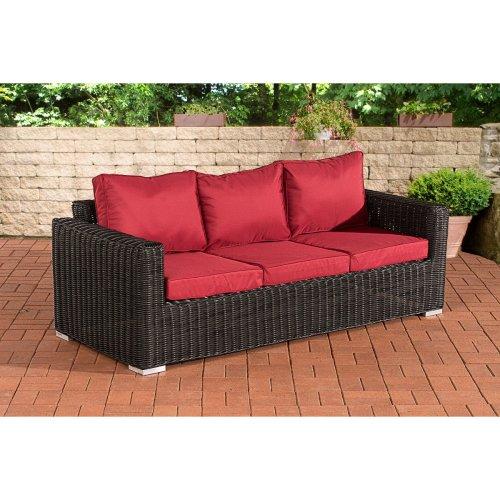3 seater sofa Bilbao / Madeira ruby