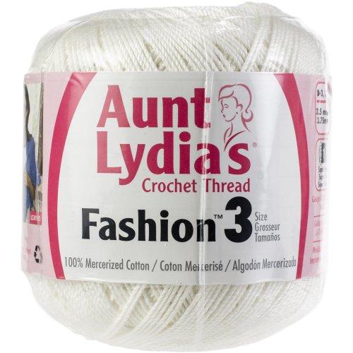 Aunt Lydia's Fashion Crochet Thread Size 3  12/Pk-White