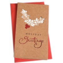 Christmas Cards Greeting Cards Christmas Gift Xmas Cards (4 Cards and Envelopes), Brown # 20