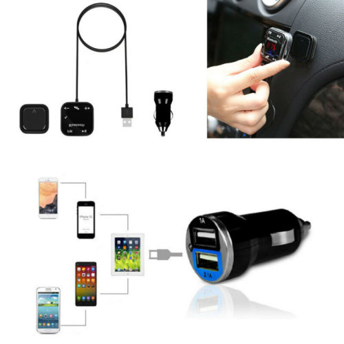 Car Kit Handsfree LCD MP3 Player FM Transmitter Wireless Bluetooth USB/SD
