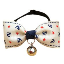 England Style Pet Collar Tie Adjustable Bowknot Cat Dog Collars with Bell-A04