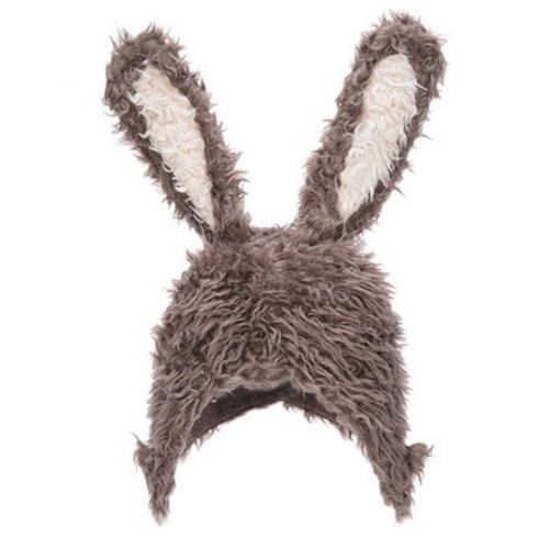 Kids Boys Girls Keep Warm Head Cap Lovely Fashion Hats Long Rabbit Ears Hat-A2