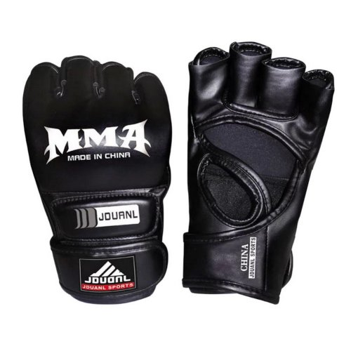Adult Fighting Half-finger Gloves -UFC Boxing Gloves - Gloves MMA 2 -- Black
