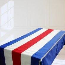 [Bright Stripes] Rectangle Tablecloth Canvas Table Cloth Table Cover