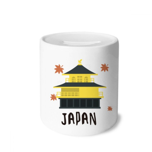 Local Japanese Travelling Building Money Box Saving Banks Ceramic Coin Case Kids Adults