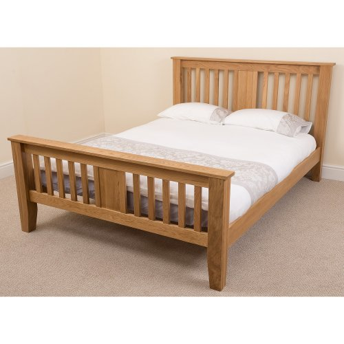 Boston Solid Oak Bed Frame with Mattress