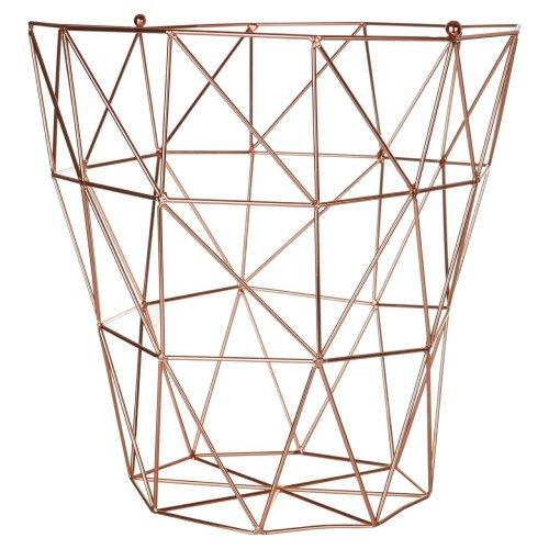 Vertex Storage Basket Copper Plated Finish