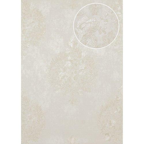 Atlas ATT-5081-2 Flowers wallcovering wall shiny cream light-ivory 7.035 sqm