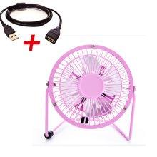 """Mini Fan,Portable Fan, USB Fan, Desktop Fan(Pink With 1.4M Extension Cord,4"""")"""