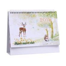 Creative Desktop Calendar October 2017 through December 2018  - Deer Pattern
