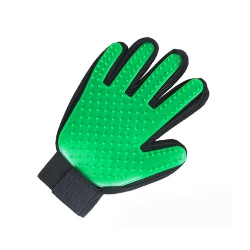 Pet Grooming Glove Gentle Deshedding Brush Glove Five Finger Design Glove