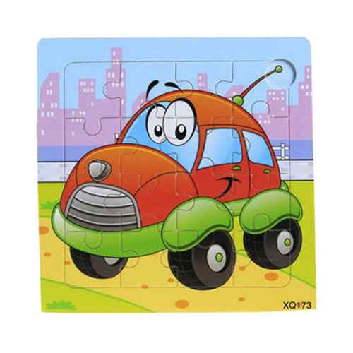 2 Pcs Cartoon Car Wooden Puzzle Puzzles Children Puzzles