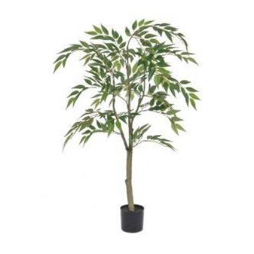 Artificial Silk Ficus Benjamin Tree - 120cm, Green