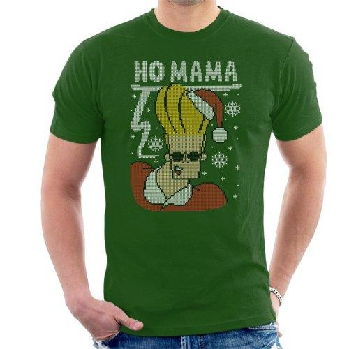 Ho Mama Johnny Bravo Christmas Knit Men's T-Shirt