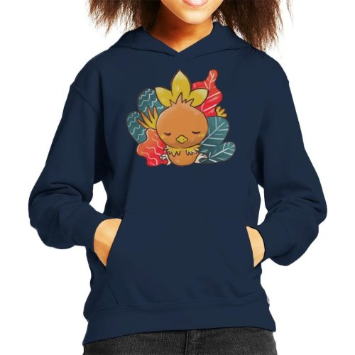 Pokemon Sleeping Torchic Kid's Hooded Sweatshirt